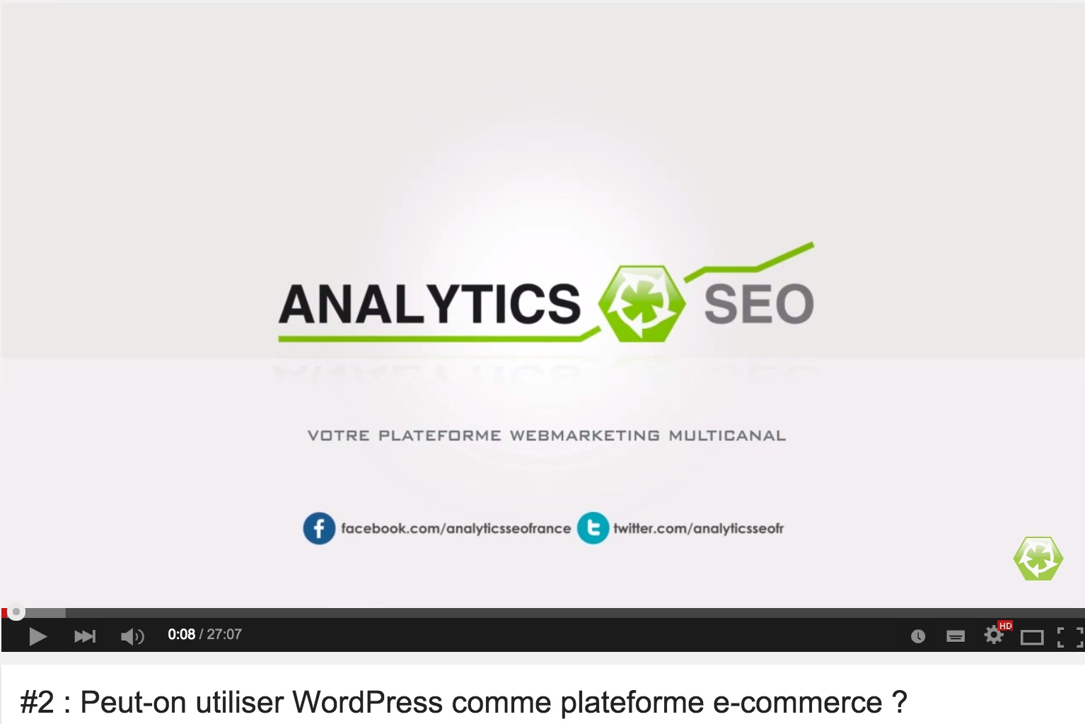 Interview video sur le theme Wordpress et e commerce