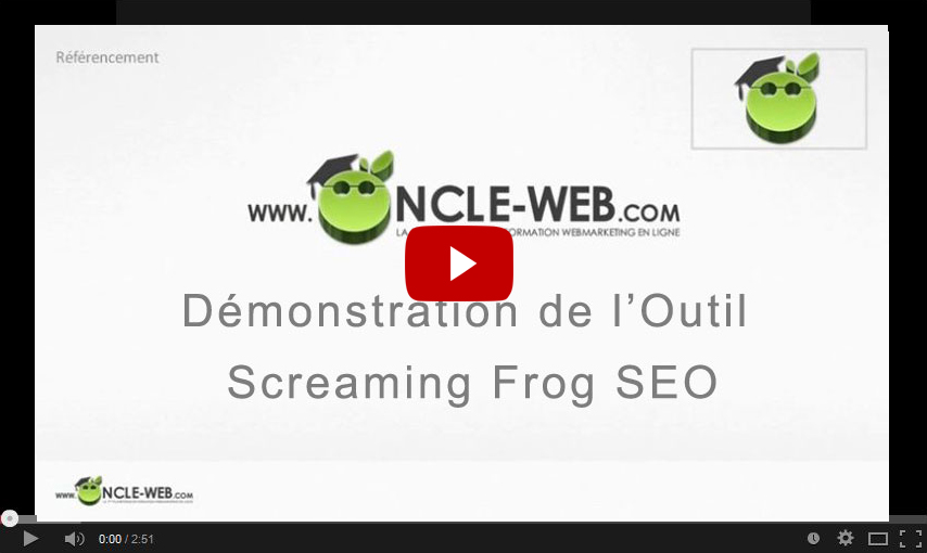 Démonstration de l'Outil Screaming Frog SEO