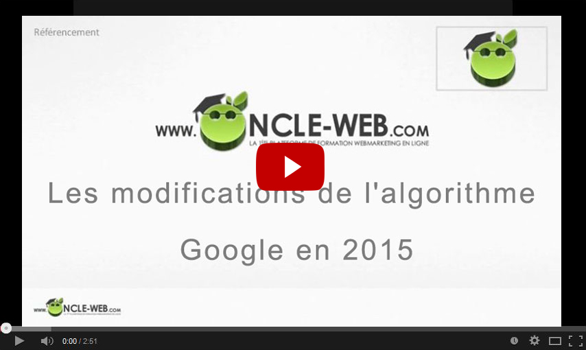 Les modifications de l'algorithme Google en 2015