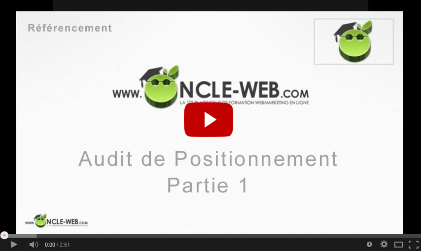 Audit de positionnement Partie 1